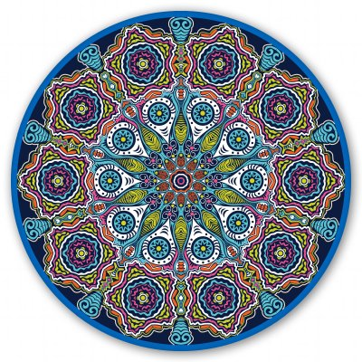 Mandala 1 Design Spiritual Circle Vinyl Sticker - Car Phone Helmet - SELECT SIZE ()