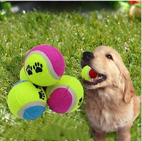 Smy&Pet Pelota para Mascotas - Huellas para Perros Tenis para ...