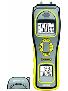 General Tools MMH800 Moisture Meter, Pin Type or Pinless, Temperature and Humidity