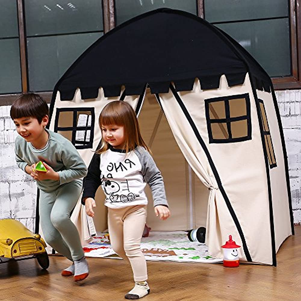 Large Kids Teepee Tent Portable Children Play For Boys