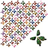 beemean Magic Flying Butterfly Gift Cards - Wind Up Butterfly in The Book Fairy Toy Great Surprise Wedding (100PCS)
