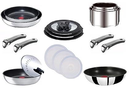 Tefal Ingenio - Batería de cocina (12 piezas + 3 tapas ...