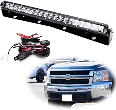 Amazon.com: iJDMTOY Lower Grille 20-Inch LED Light Bar Compatible With  11-13 Chevy Silverado 1500, 2007-10 2500 3500 HD, Includes 100W High Power  CREE LED Lightbar, Bumper Mount Brackets & Switch Wiring Kit: Automotive | 2013 2500 Chevrolet Wiring |  | Amazon.com