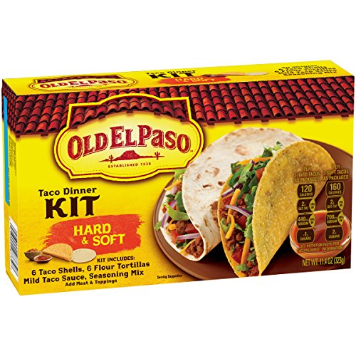 Soft Taco (Old El Paso Hard & Soft Taco Dinner Kit 11.4 oz)
