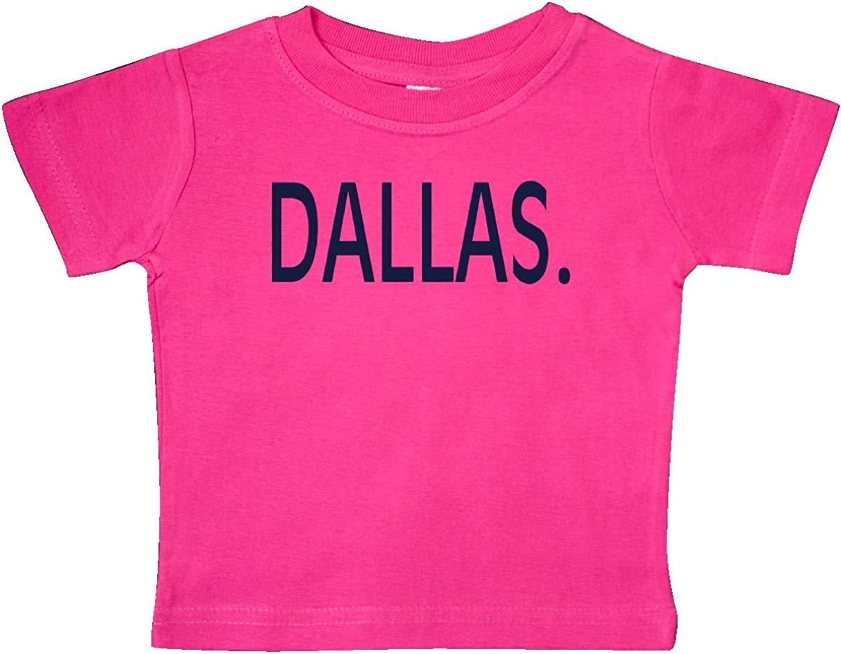 inktastic Dallas in Blue Text Baby T-Shirt