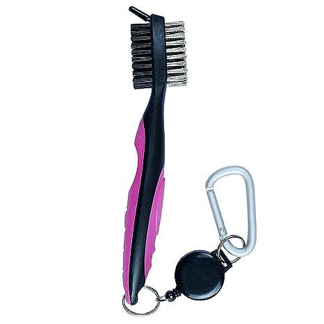 GEZICHTA Juego de brochas y toallas de golf con pinchos de limpieza retráctiles y clip de