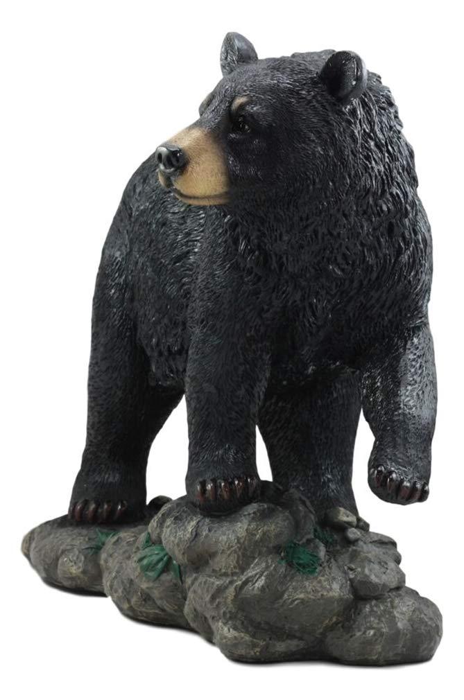 "Large Realistic Strolling Black Bear Statue 16.5/""L Rustic Cabin Decor Figurine"