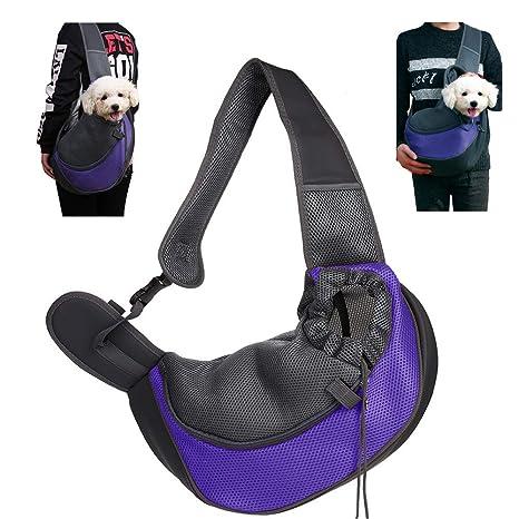 CHUER Mochilas para Perros Gatos, Portador para Mascotas Pequeñas, Transportín para Mascotas Mochila al Aire Libre del Viaje para Mascotas del Peso ...