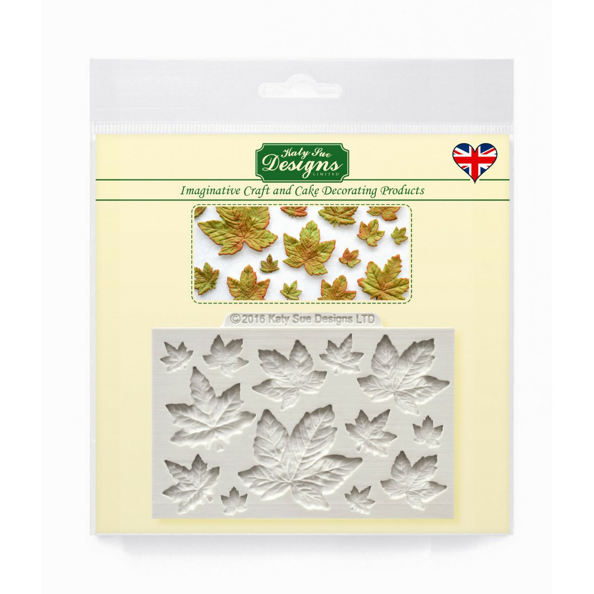 Maple Leaves - Katy Sue Designs Silicone Mould for Cake Decorating Cupcakes Sugarcraft and Candies