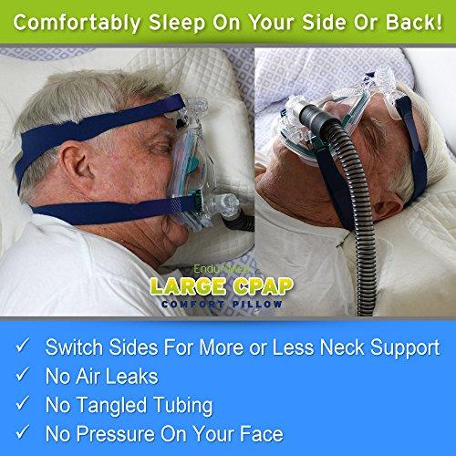 CPAP Pillow - New Memory Foam Contour Design Reduces Face ...