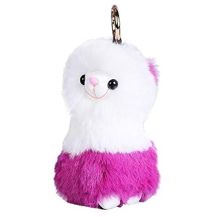 mamum llavero, artificial Fur Fluffy llavero colgante ...