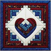 Quilt Magic 15-1/2-Inch by 15-1/2-Inch Log Cabin Heart Kit