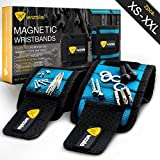 Tools & Hardware : Wizsla Magnetic Wristbands for Holding Screws, Nails, Pins, Drill Bits - Very Unique Gift Idea for DIY Handyman, Men, Women - Best Tool Gift for Him, Her (Set of 2 exclusive Sizes - Blue)
