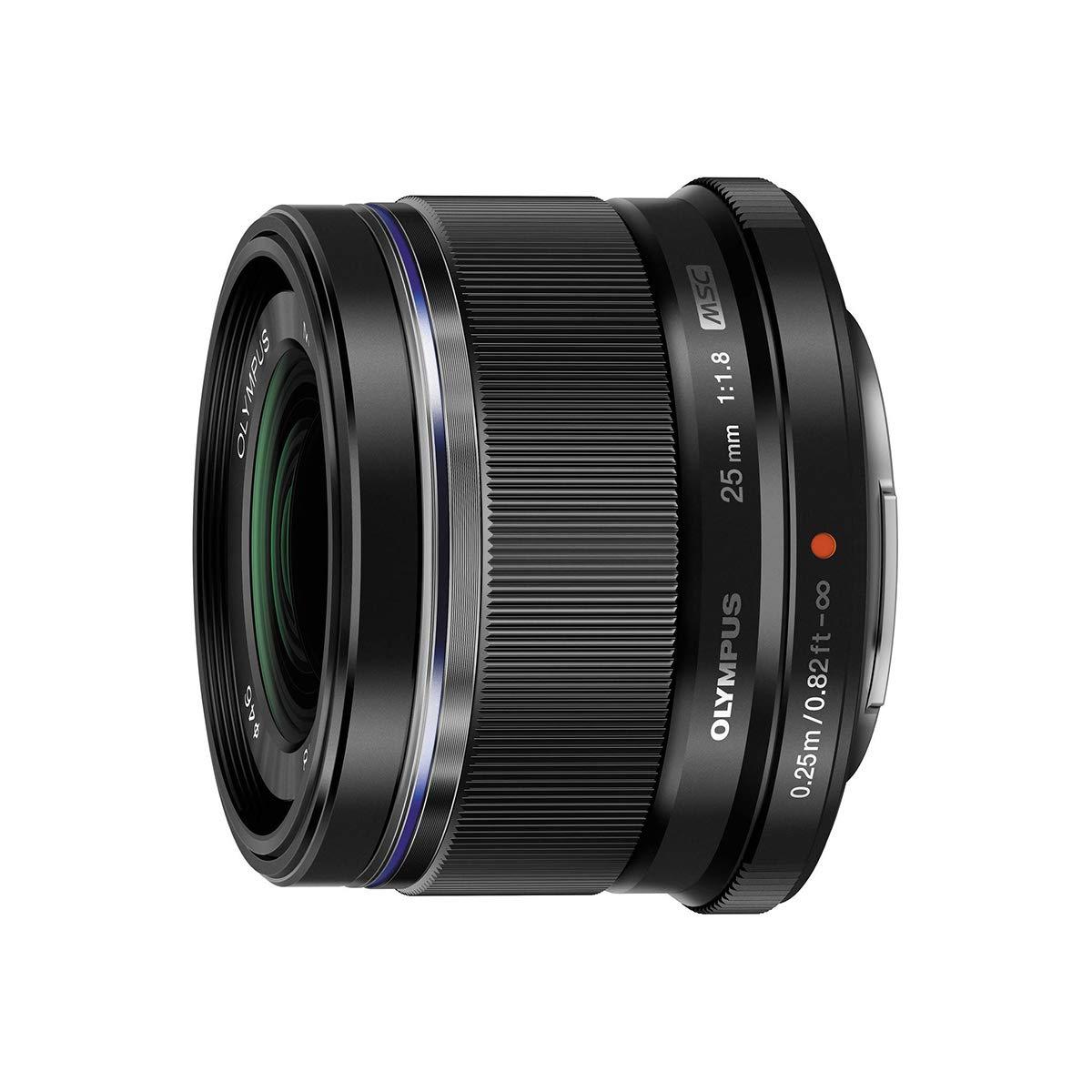 Olympus M.Zuiko Digital 25mm F1.8 Lens, for Micro Four Thirds Cameras (Black) by Olympus