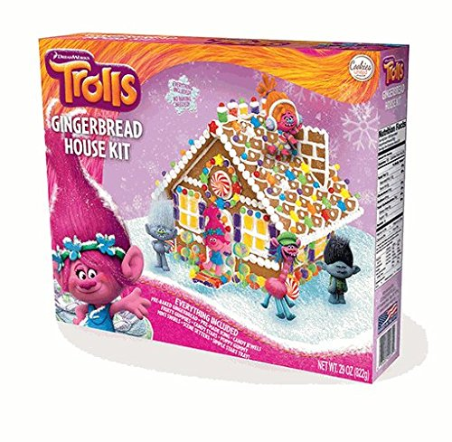 Trolls Gingerbread House Kit (Cookie House Kit)