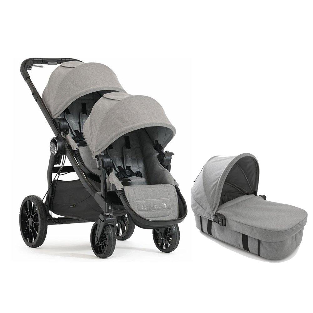 Baby Jogger 2017 City Select LUX Double Stroller WITH LUX Bassinet (Slate)