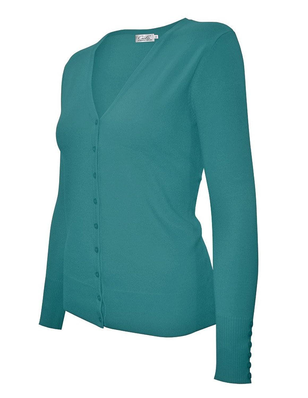 Jaycargogo Mens Basic Slim Fit Sweater Cardigan Casual V Neck Button Down Knitwear