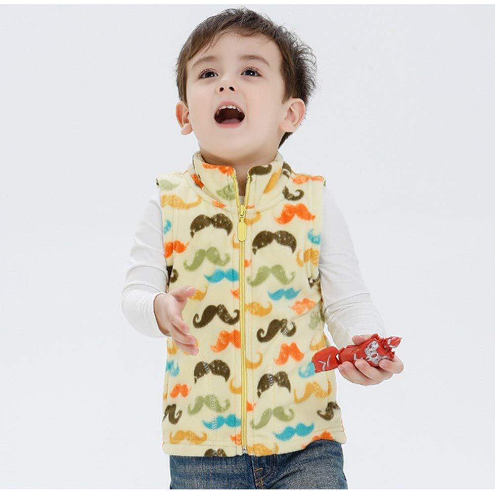 Baby Boys Sleeveless Fleece Warm Waistcoat Outwear Autumn Winter Dinosaur Zipper Cardigan Vest HC-COAT-45