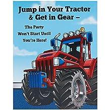 Farm Tractor Invitations