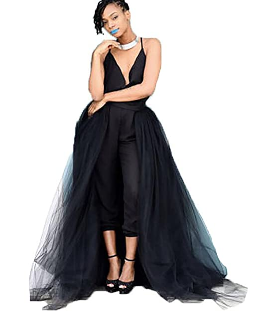 97993dcc14 Black Detachable Tulle Skirt for Evening Gown at Amazon Women's Clothing  store: