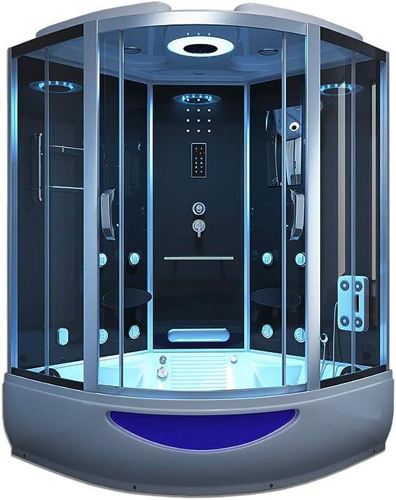 Home Deluxe Templo de ducha Exclusive, incluye Whirlpool y Sauna de vapor (Negro): Amazon.es: Bricolaje y herramientas