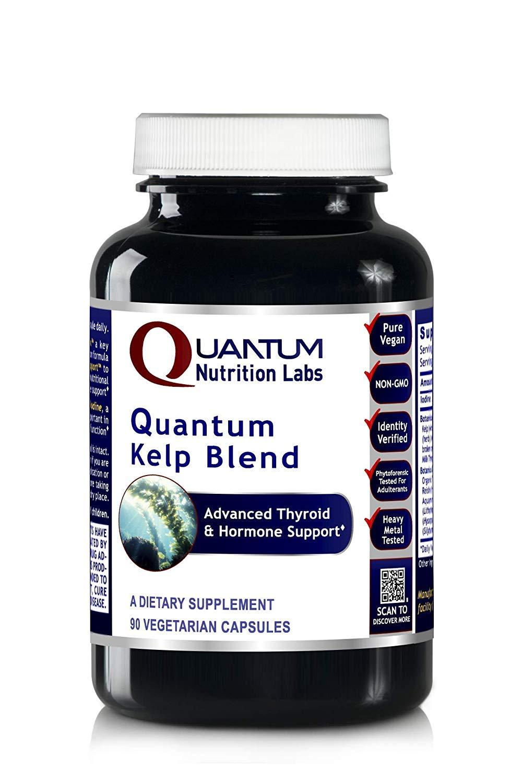 Quantum Nutrition Labs Kelp Blend, 180 Vegetarian Caps, Botanical Formula Premier Research Thyroid & Hormone Support Iodine