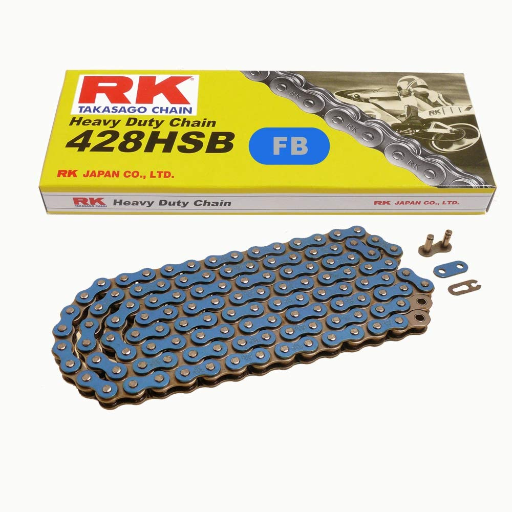 14 Necklace RK Remote Control 428 SB 118 open Blue 14 // 45 Chain Set Type VX for Yamaha YBR 125 ED 07