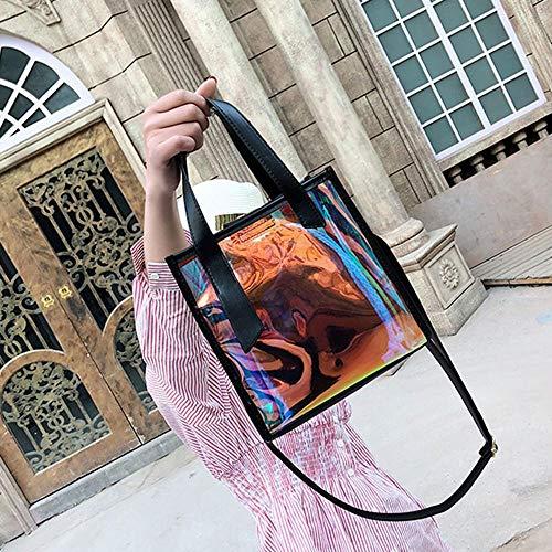 para hombro rosa rosa al Bolso negro mujer Pawaca qaTcSOw1
