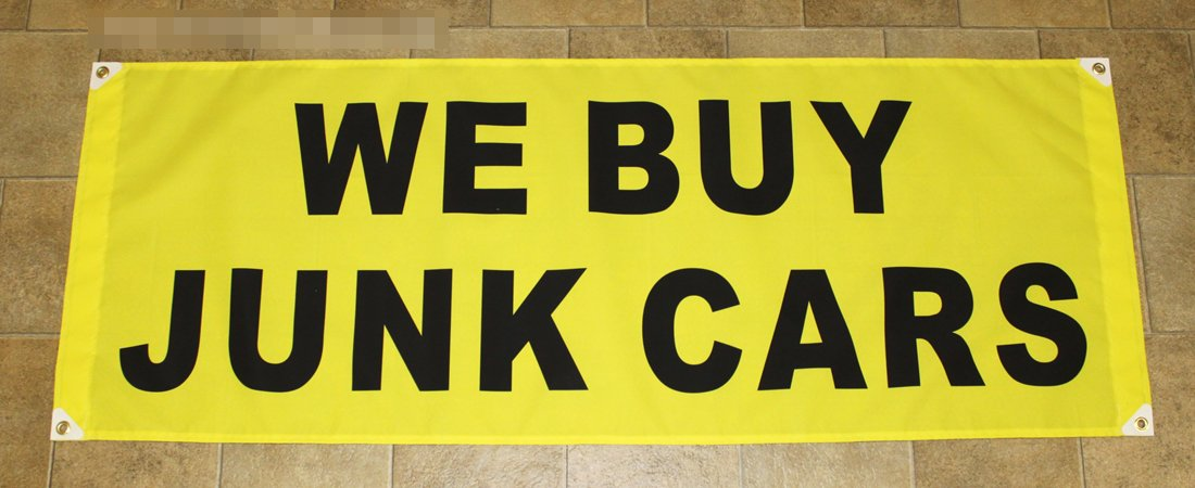 Amazon.com: 2ftX5ft WE BUY JUNK CARS Banner Sign: Everything Else