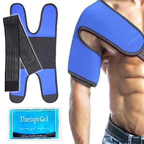 Envoltura con gel de hielo para el hombro Compresa fría para lesiones deportivas en el hombro, bursitis, dolor articular, dolor de artritis, ...