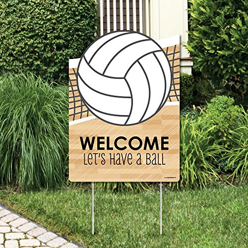 - Big Dot of Happiness Bump, Set, Spike - Volleyball - Party Decorations - Birthday Party or Baby Shower Welcome Yard Sign