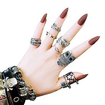 Aisi 24pcs Künstliche Fingernägel Zum Aufkleben Künstliche Nägel Nail Tips Selbstklebende Nägel Nagelaufkleber Nägel Tips Mit Kleber F91