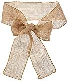 LinenTablecloth Burlap Chair Sash For Sale