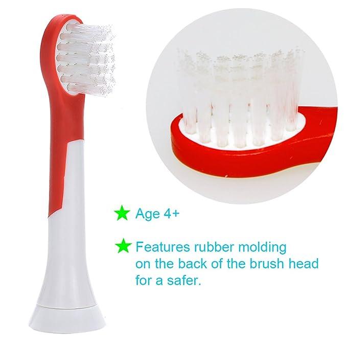 ITECHNIK genérico de alta calidad reemplazo cabeza de cepillo de dientes eléctrica compatible con Philips Sonicare Hx-6034 / HX6032 Sonicare para niños ...