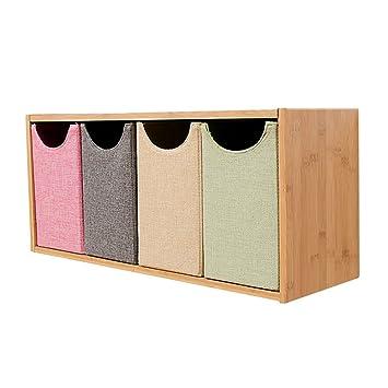 Amazon.de: FT SM Bücherregal Bambus Holz Schlafzimmer Nachtwand Wand ...