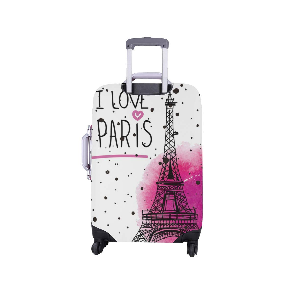 InterestPrint I Love Paris Eiffel Tower Travel Luggage Case Baggage Suitcase Cover Fits 18''-21'' Luggage by InterestPrint (Image #2)
