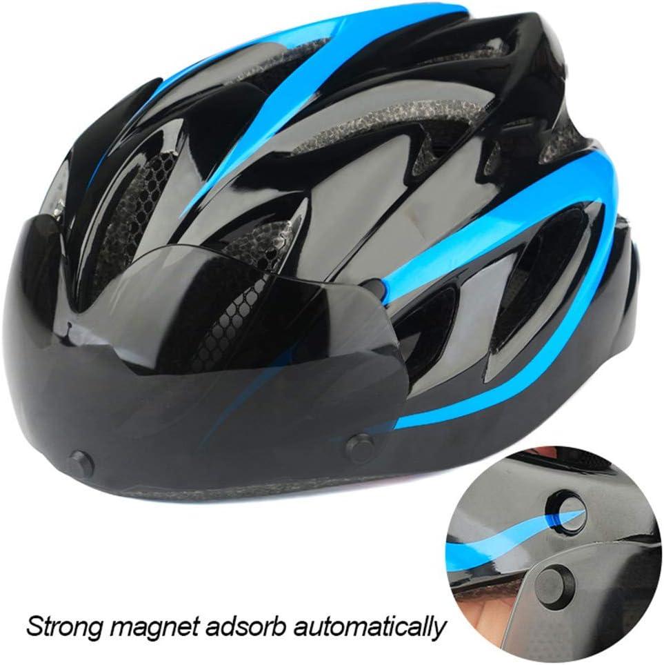Casque de vélo EPS Insect Net Route VTT Vélo Objectifs Coupe-Vent-Intégralement Casque à vélo Moulé C Blue 2 lenses
