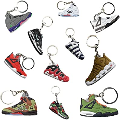Amazon.com: Sneaker Keychains | Retro Hypebeast Mini Basketball Shoe  Keychain 3D Silicone (perfect as party favors): Shoes