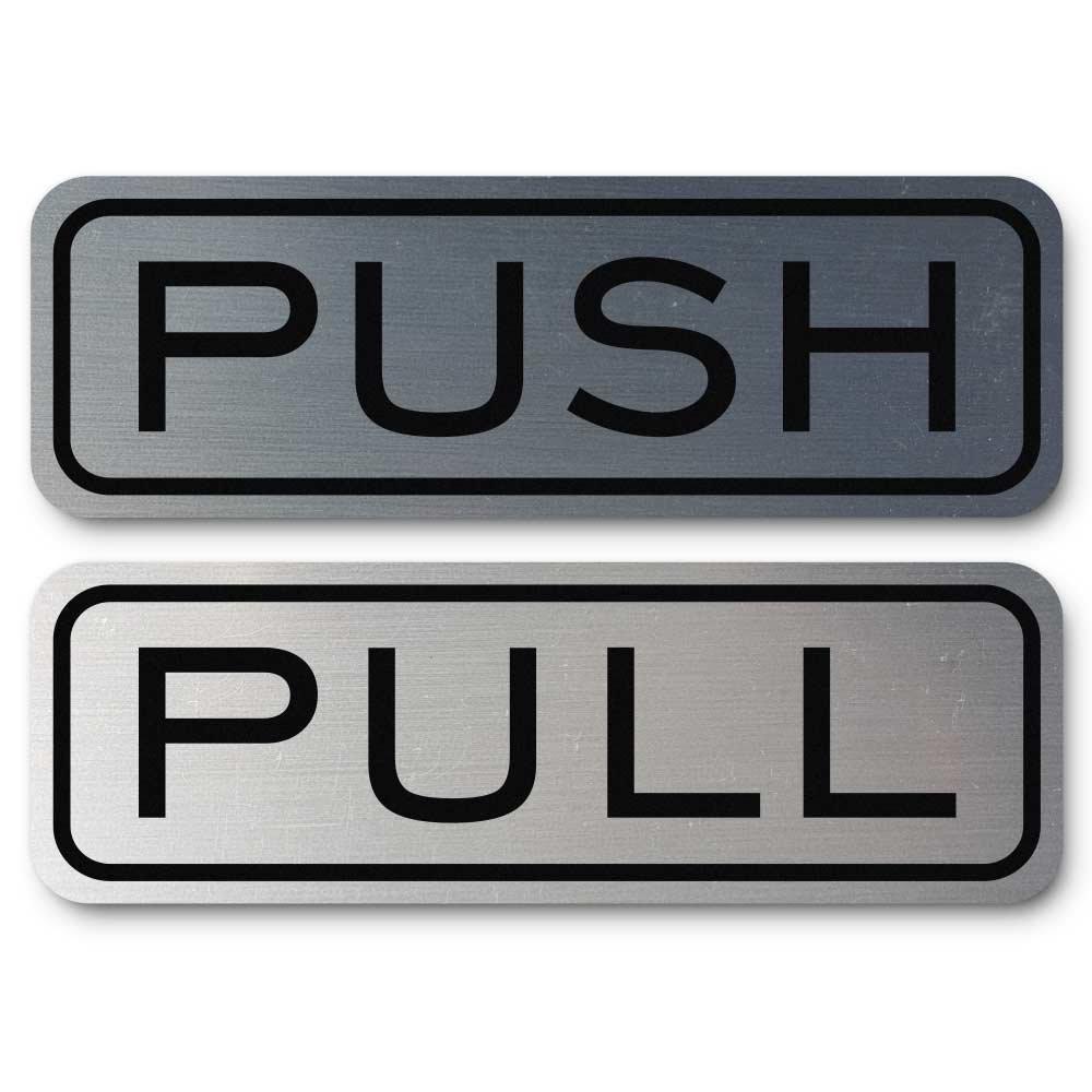 Do4U 1 Pair Premium Horizontal Push Pull Door Sign 5.9