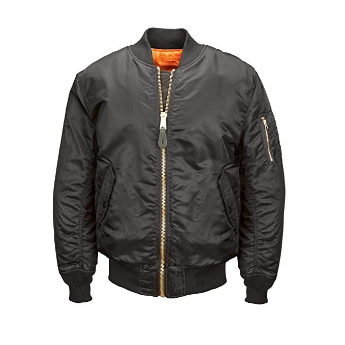 e75f9db57 Alpha Industries MA-1 Blood Chit Flight Bomber Chamarra para Hombre, Negro,  XX