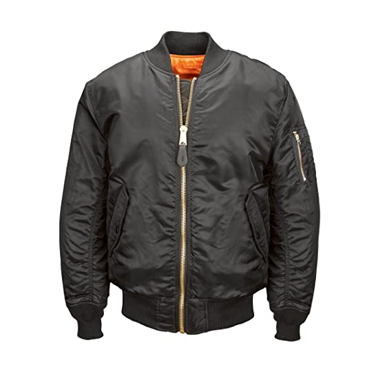Alpha Industries Men's MA-1 Bomber Blood Chit Flight Jacket ...