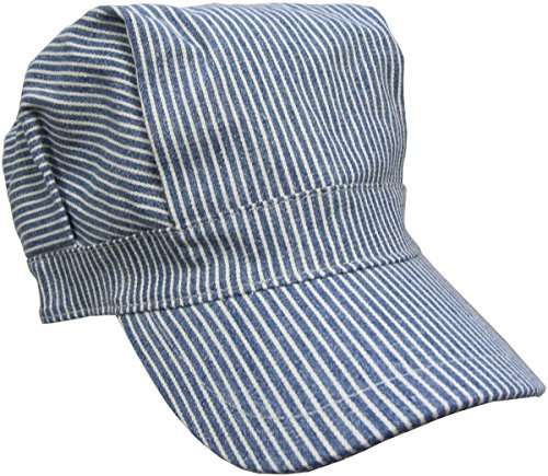 Child's Blue Engineer Train Conductor Hat]()