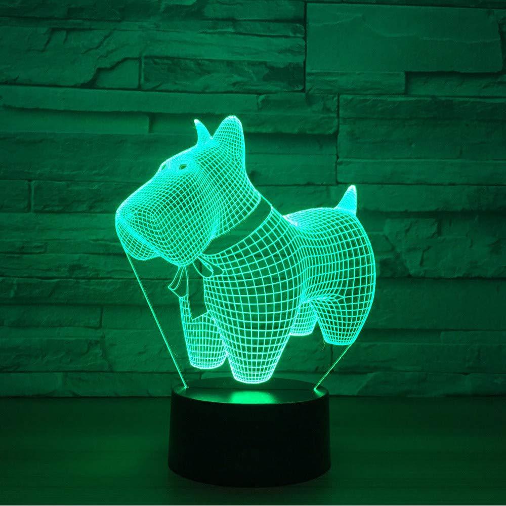Hlfymx 3D Llevó La    Decoración Del Del Del Hogar    Usb 7 Colores Que Cambian La Visión Lámpara De Escritorio Perro Creativo Modelado Sala De Estar Accesorios De Luz 70f938