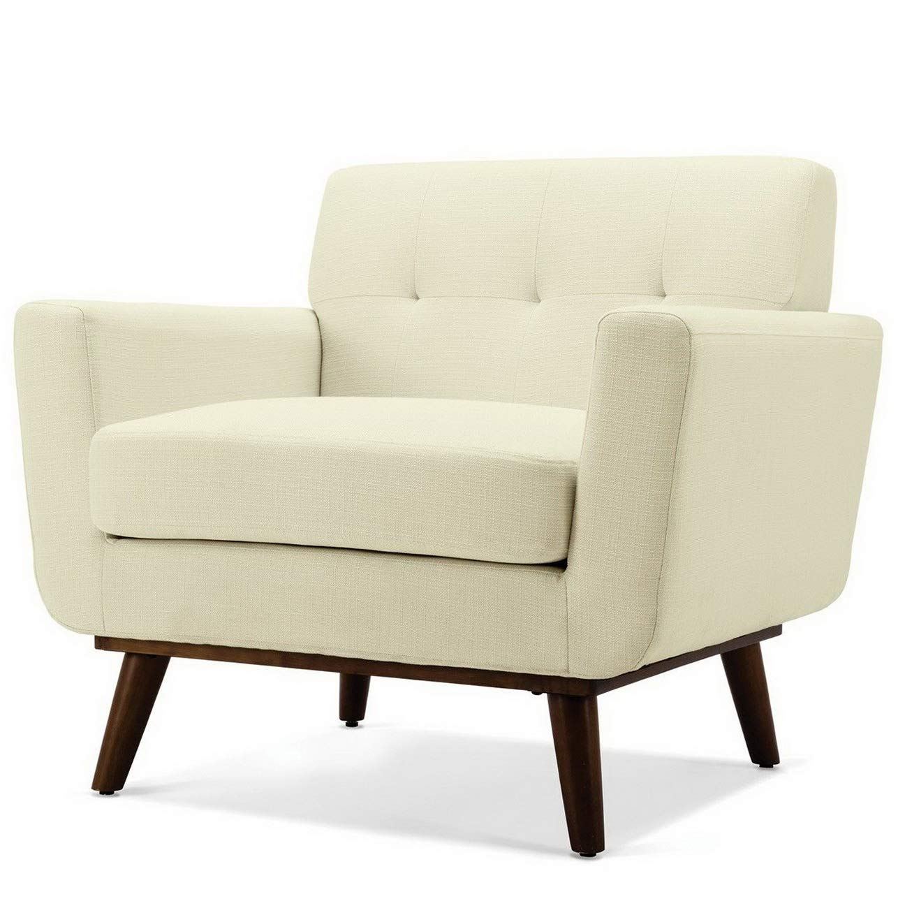 Amazon.com: Hebel Mid-Century Isaiah Upholstered Accent Arm Living ...