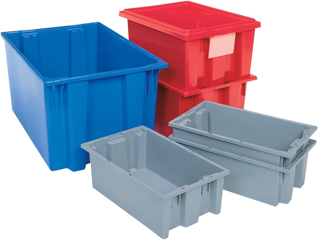 Case of 3 29.5-Inch L by 19.5-Inch W by 15-Inch H Blue Akro-Mils 35300 Nest and Stack Plastic Storage and Distribution Tote