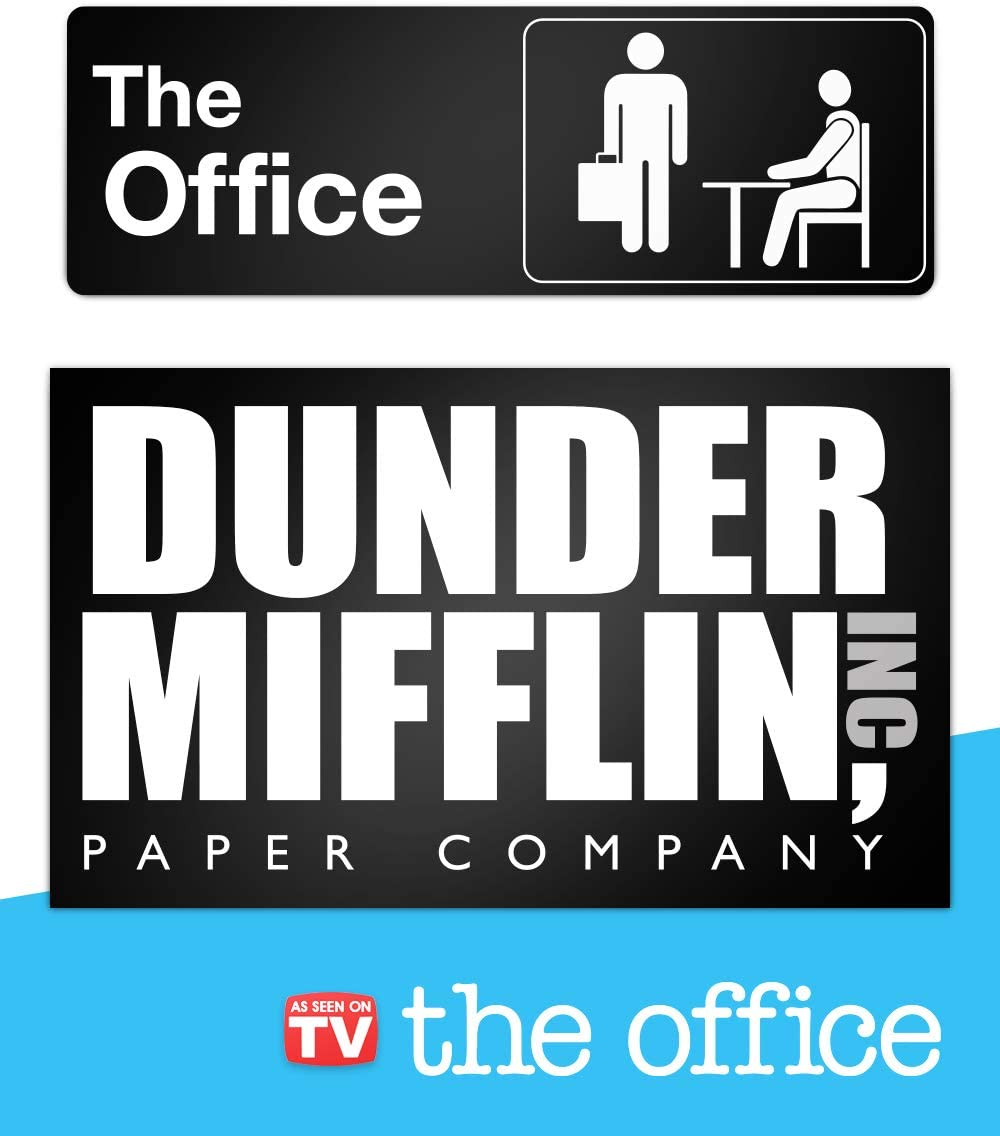 The Office Sign – Dunder Mifflin Logo – The Office Merchandise – Memorabilia Inspired by The Office (Dunder Mifflin & The Office Signs)