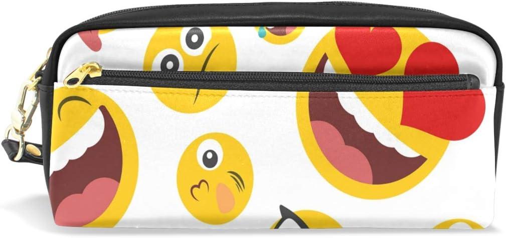 CPYang - Estuche para lápices con diseño de emoticonos y emojis: Amazon.es: Oficina y papelería