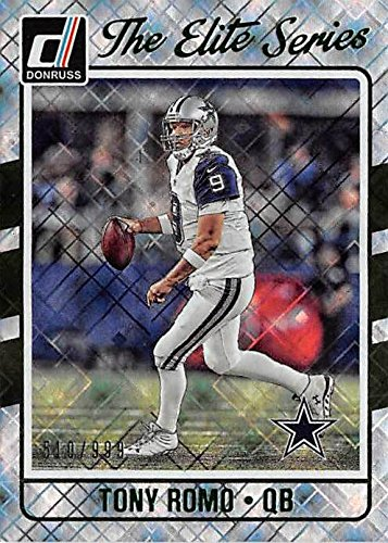 (Tony Romo football card (Dallas Cowboys) 2016 Donruss #18 Limited Edtion Refractor 510 of 999)