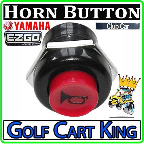 Universal Golf Cart/ATV/Tractor 12 Volt/10 Amp Horn Switch Button - Dash Mount ()
