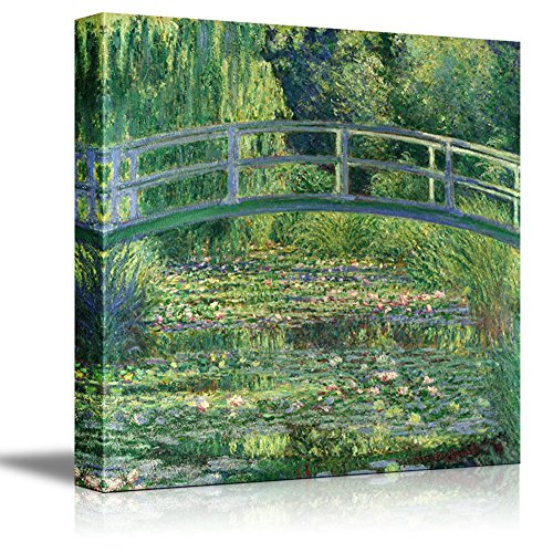 "The Water Lily Pond by Claude Monet Giclee Canvas Prints Wrapped Gallery Wall Art | Stretched and Framed Ready to Hang - 24"" x 24"""